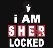 i Am Sherlocked BlodBrush Black by AchmadKurniawan