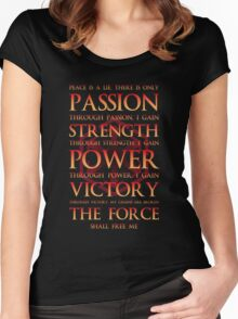 Sith Motto  Women's Fitted Scoop T-Shirt