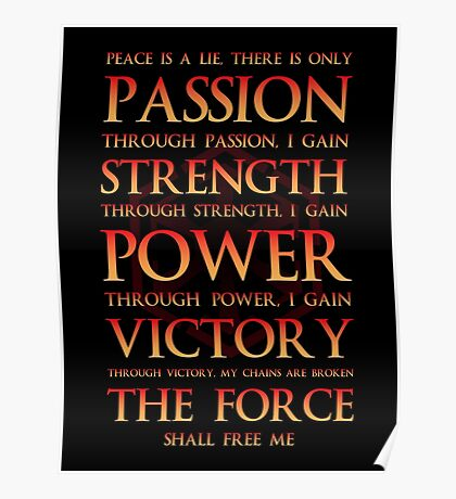 Sith Motto  Poster