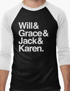 Will & Grace (& Jack & Karen) Men's Baseball ¾ T-Shirt