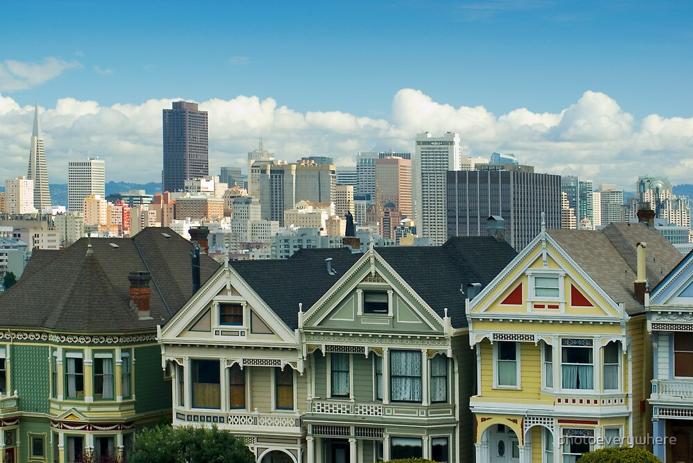 Painted Ladies Alamo Square by photoeverywhere