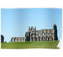 Whitby Abbey, England Poster