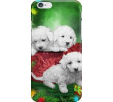 Puppies For Christmas iPhone Case/Skin