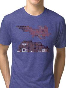 FEZ Rosetta Stone Tiles Tri-blend T-Shirt