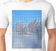 Silver Snow Flakes Unisex T-Shirt