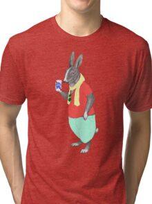 Hipster Easter Rabbit Tri-blend T-Shirt