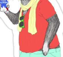 Hipster Easter Rabbit Sticker