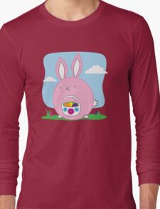 Easter Bunny with basket and eggs Long Sleeve T-Shirt