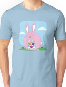 Easter Bunny with basket and eggs Unisex T-Shirt