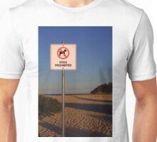 Dogs Prohibited Unisex T-Shirt