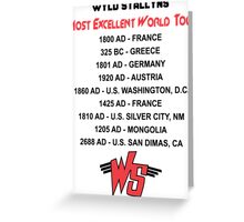 Bill & Ted's Band Tour shirt Greeting Card
