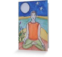 Tranquil Meditation Greeting Card