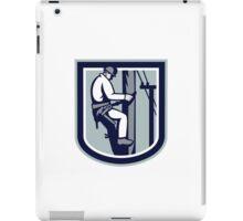 Power Lineman Telephone Repairman Electrician Retro iPad Case/Skin