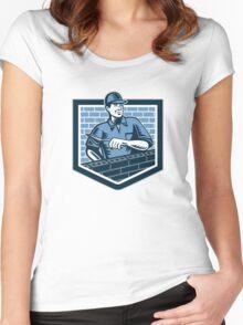 Brick Layer Mason Masonry Worker Retro Women's Fitted Scoop T-Shirt