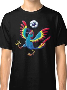 Cool Macaw Playing with a Soccer Ball on its Head Classic T-Shirt