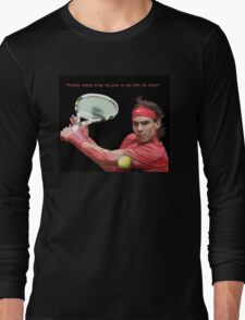 Rafa Nadal hitting the ball T-Shirt