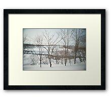 hokkaido winter Framed Print