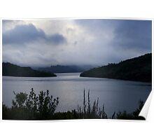 lake pedder clouds Poster