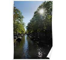 Amsterdam Spring - Green, Sunny and Beautiful Poster
