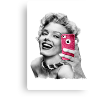 Selfie Marilyn Canvas Print