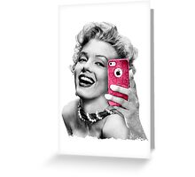 Selfie Marilyn Greeting Card