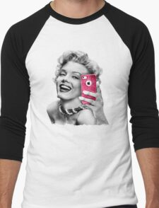 Selfie Marilyn Men's Baseball ¾ T-Shirt