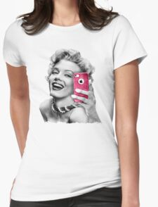 Selfie Marilyn Womens Fitted T-Shirt