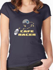 cafe racer motorbike vintage rocker bike motorcycle Women's Fitted Scoop T-Shirt