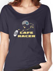 cafe racer motorbike vintage rocker bike motorcycle Women's Relaxed Fit T-Shirt