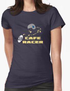 cafe racer motorbike vintage rocker bike motorcycle Womens Fitted T-Shirt