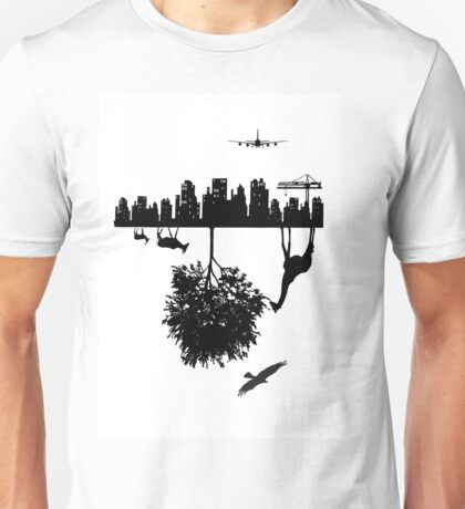 Man Above and Nature Below Unisex T-Shirt