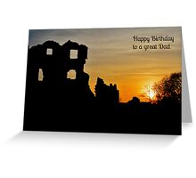 Coity Castle Birthday Card for a Great Dad Greeting Card