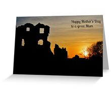 Coity Castle Silhouette - Mother's Day Card for a Great Mum Greeting Card