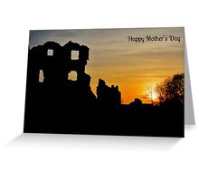 Coity Castle Silhouette - Mother's Day Card   Greeting Card