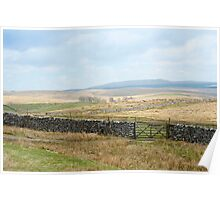 Rural English landscape Poster