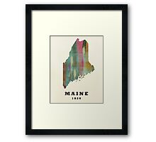 maine state map Framed Print