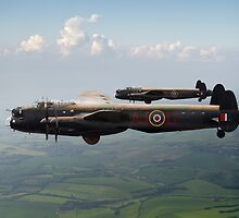 Lancasters AJ-G and AJ-N carrying Upkeeps by Gary Eason + Flight Artworks