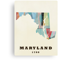 Maryland state map Canvas Print