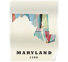 Maryland state map Poster