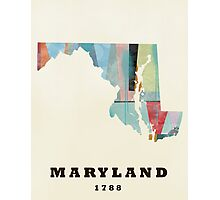 Maryland state map Photographic Print