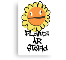 PLantz AR SToPiD, Art Inspired by Plants Versus Zombies: Garden Warfare Canvas Print