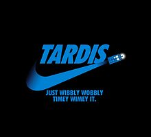 TARDIS JUST WIBBLY WOBBLY TIMEY WIMEY IT by bestiphone5case