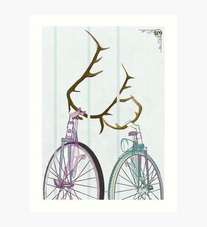 Bicycle Love Art Print