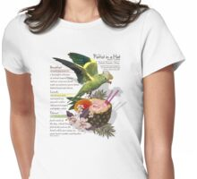 parrot in a hat 2 Womens Fitted T-Shirt