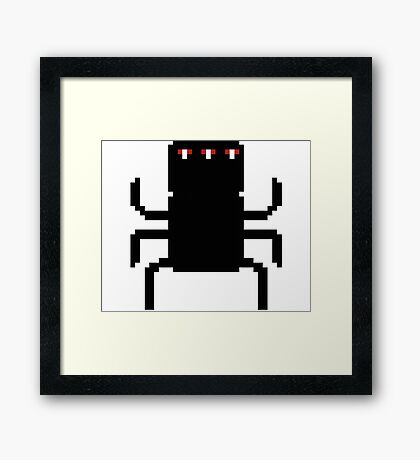 8-Bit Spider-like Creature Framed Print