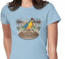 parrot in a hat 3 Womens Fitted T-Shirt