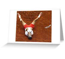 Rafa Nadal lying on the ground Greeting Card