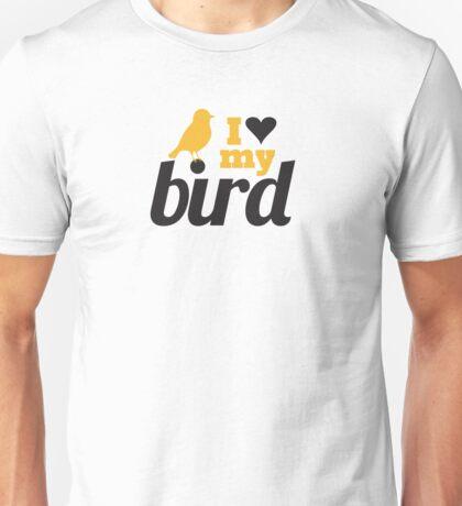 I love my bird Unisex T-Shirt