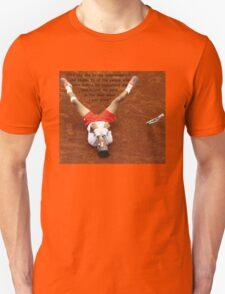 Rafa Nadal lying on the ground T-Shirt