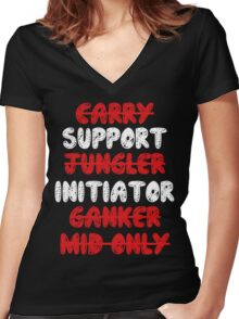 Dota 2 - Support Women's Fitted V-Neck T-Shirt